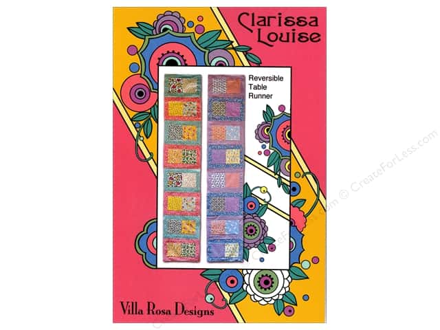 Villa Rosa Designs Clarissa Louise Table Runner Pattern Card