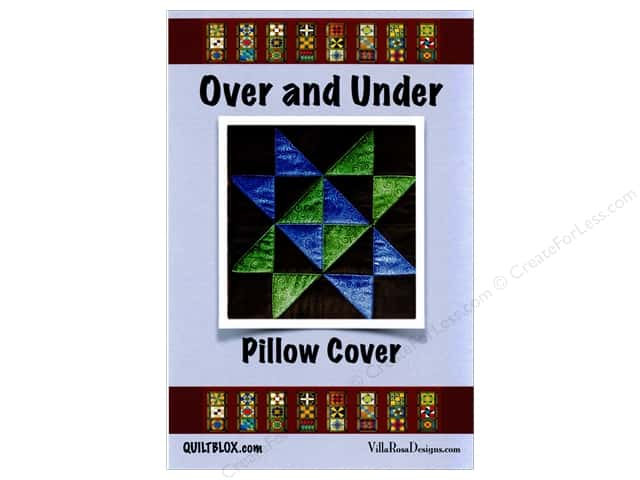 Villa Rosa Designs QuiltBlox Over & Under Pillow Cover Pattern Card