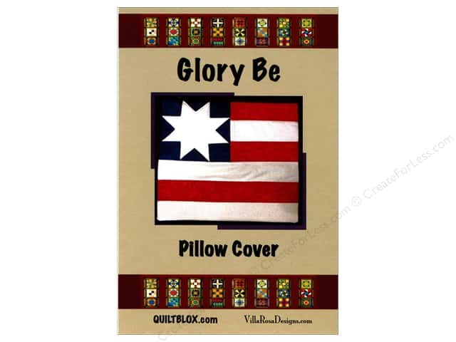 Villa Rosa Designs QuiltBlox Glory Be Pillow Cover Pattern Card
