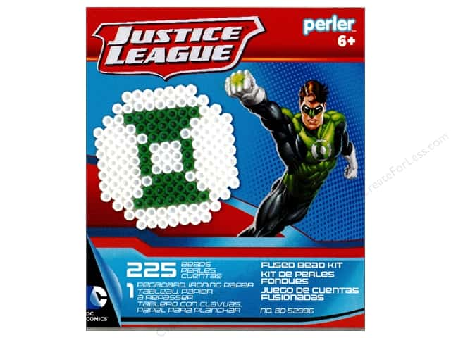 Perler Fused Bead Kit Justice League Green Lantern