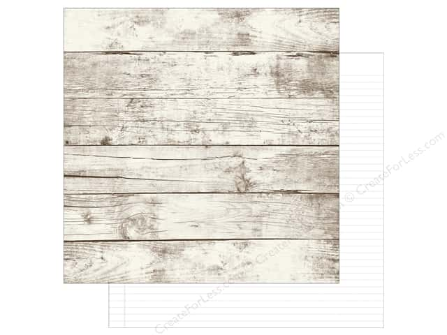 Simple Stories 12 x 12 in. Paper SN@P! Basics Aspen & White Notebook (25 sheets)