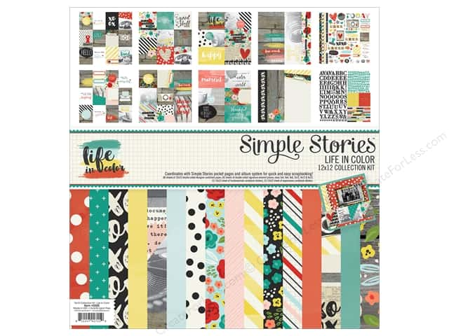 "Simple Stories Collection Life In Color Collection Kit 12""x 12"""