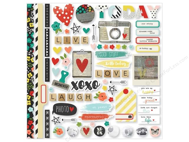 Simple Stories Collection Life In Color Sticker Fundamentals (12 sets)