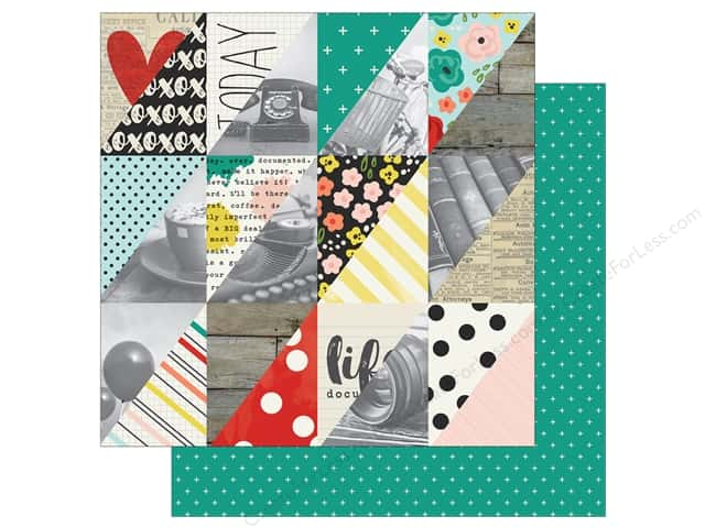 "Simple Stories Collection Life In Color Paper 12""x 12"" Happy Little Moments (25 sheets)"