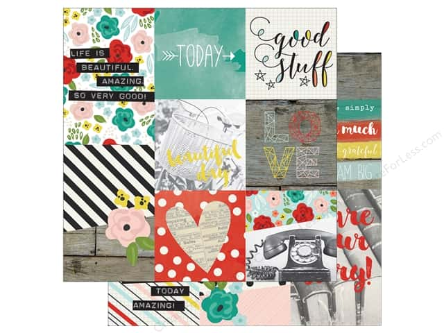 "Simple Stories Collection Life In Color Paper 12""x 12"" Vertical 4""x 6"" (25 sheets)"
