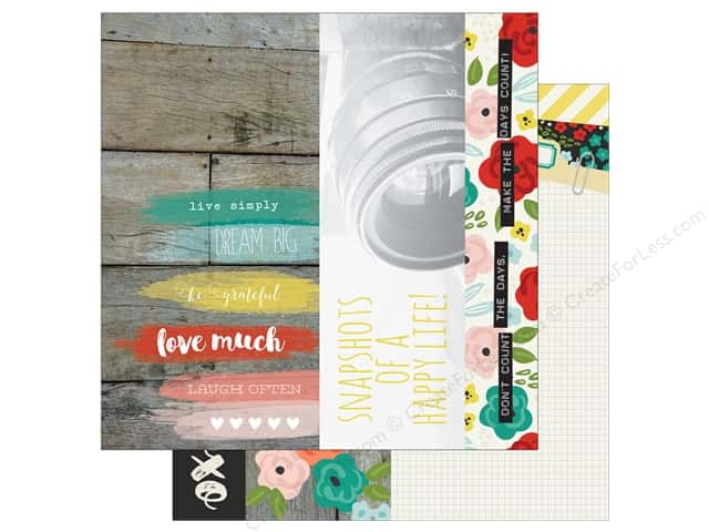 "Simple Stories Collection Life In Color Paper 12""x 12"" Page Element (25 sheets)"