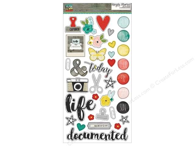 "Simple Stories Collection Life In Color Chipboard 6""x 12"""