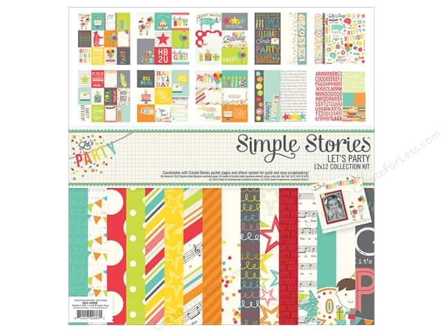 Simple Stories 12 x 12 in. Collection Kit Let's Party
