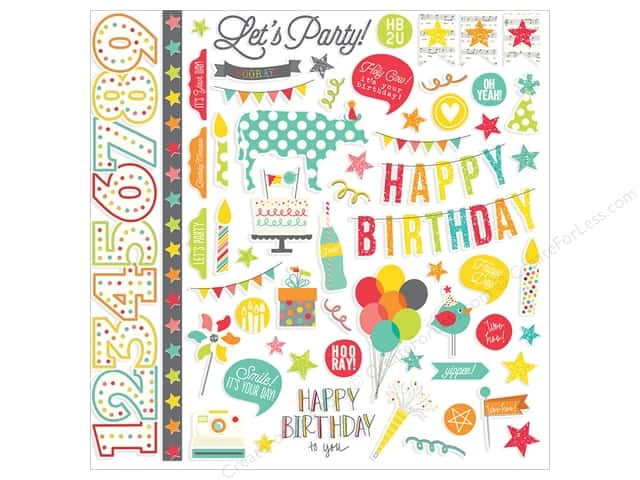 Simple Stories Sticker Let's Party Fundamental (12 sets)