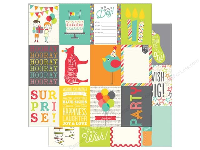 Simple Stories 12 x 12 in. Paper Let's Party Journaling Card 3 x 4 in. (25 sheets)