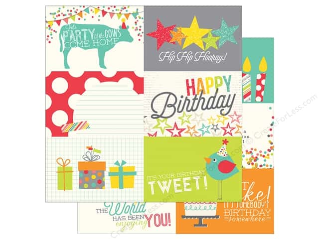 Simple Stories 12 x 12 in. Paper Let's Party Journaling Card 4 x 6 in. Horizontal (25 sheets)