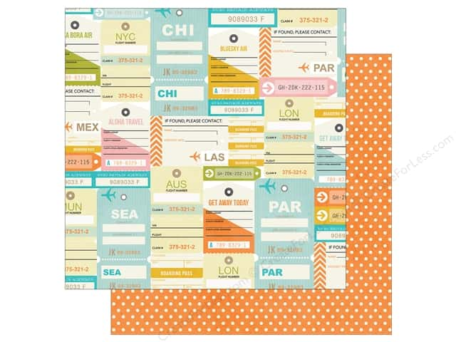 Simple Stories 12 x 12 in. Paper You Are Here Boarding Pass (25 sheets)