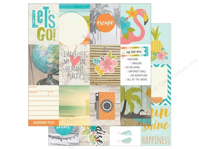 Simple Stories 12 x 12 in. Paper You Are Here Journaling Cards 3 x 4 in. Element (25 sheets)