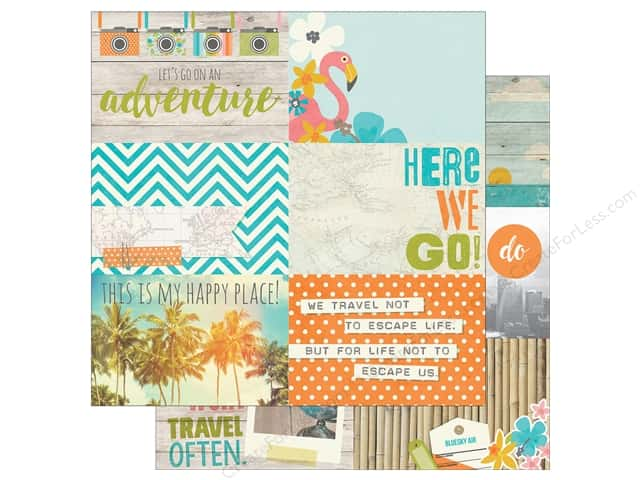 Simple Stories 12 x 12 in. Paper You Are Here Journaling Cards 4 x 6 in. Horizontal (25 sheets)