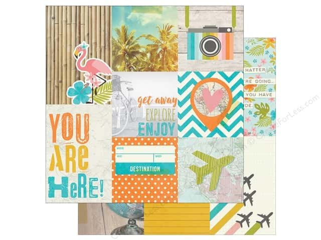 Simple Stories 12 x 12 in. Paper You Are Here Journaling Cards 4 x 6 in. Vertical (25 sheets)
