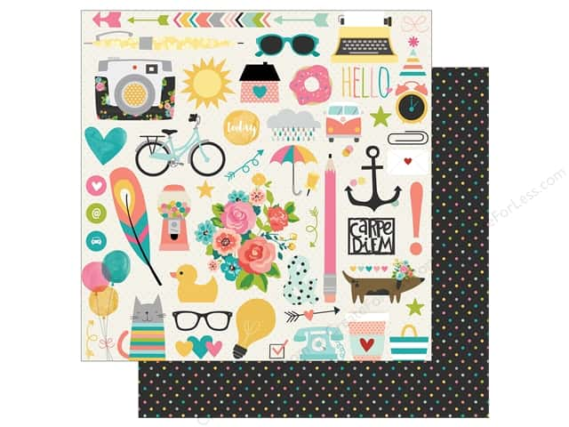 Simple Stories 12 x 12 in. Paper Carpe Diem Total Chaos (25 sheets)
