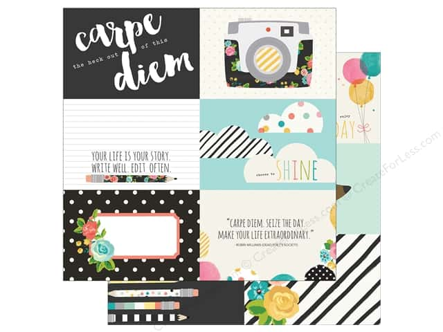Simple Stories 12 x 12 in. Paper Carpe Diem 4x6 Horizontal Elements (25 sheets)