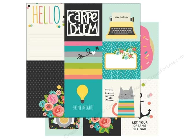 Simple Stories 12 x 12 in. Paper Carpe Diem 4x4 & 4x6 Vertical Elements (25 sheets)