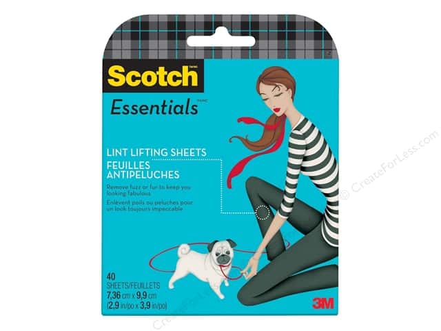 Scotch Essentials Lint Lifting Sheets Pocket Pack