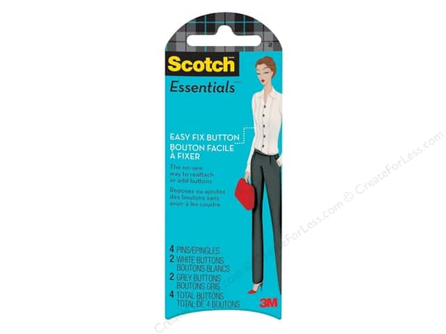 Scotch Essentials Easy Fix Buttons White & Grey