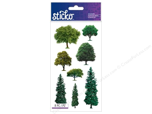EK Sticko Stickers Trees