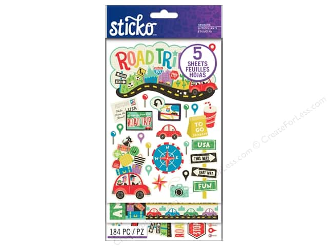 EK Sticko Stickers Flip Pack Road Trip