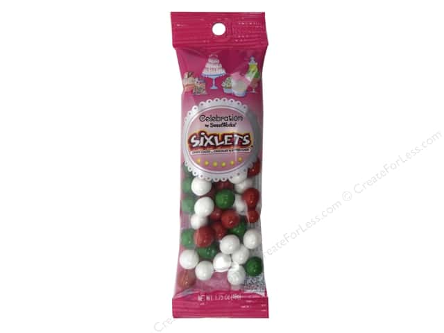 SweetWorks Celebration Sixlets 1.75 oz. Christmas