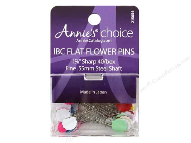 Annie's Choice IBC Flower Head Pins 1 7/8 in. 40 pc.