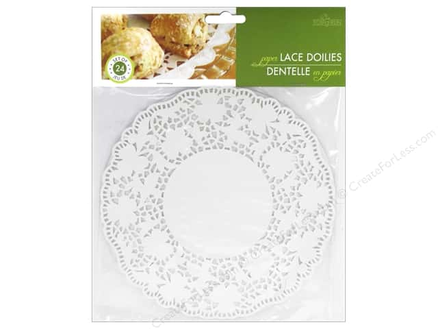 "Fox Run Paper Doily 8"" Round 24pc White"