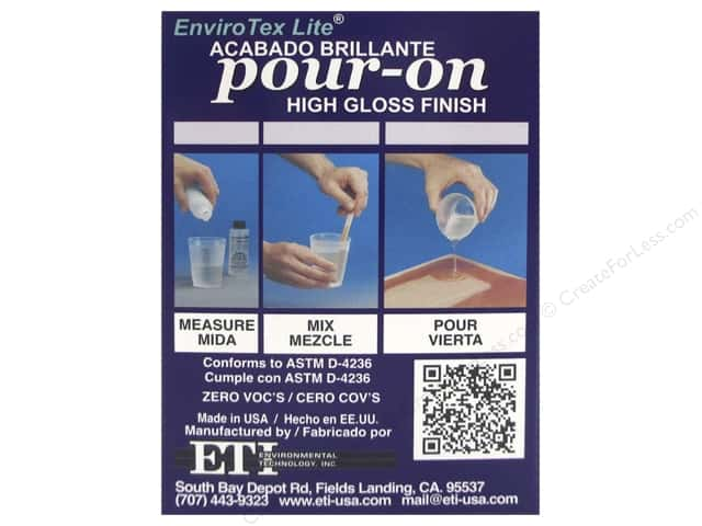 Envirotex Lite Kit Sampler Kit 4oz