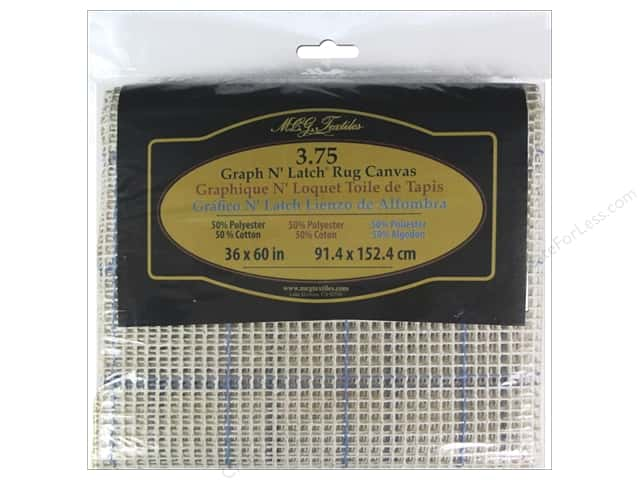 Graph n' Latch Rug Canvas 36 x 60 in. 3.75 Mesh Blue Lined