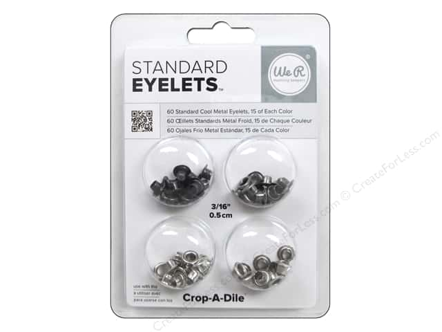 We R Memory Keepers Standard Eyelets 60 pc. Cool Metal