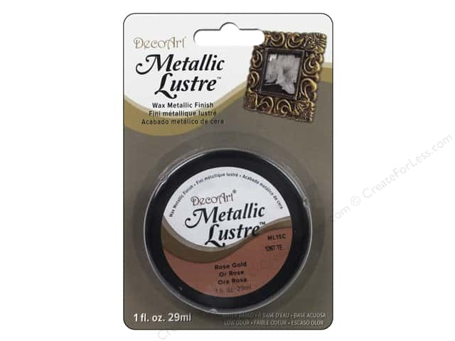DecoArt Metallic Lustre 1 oz. Rose Gold