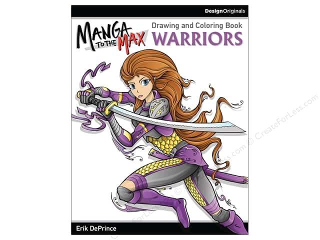 Design Originals Manga To The Max Warriors Coloring Book