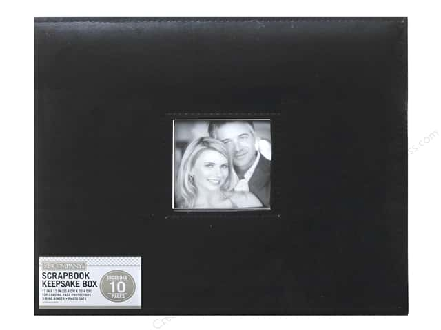 "K&Company Scrapbook Album Box 12""x 12"" Faux Leather Black"