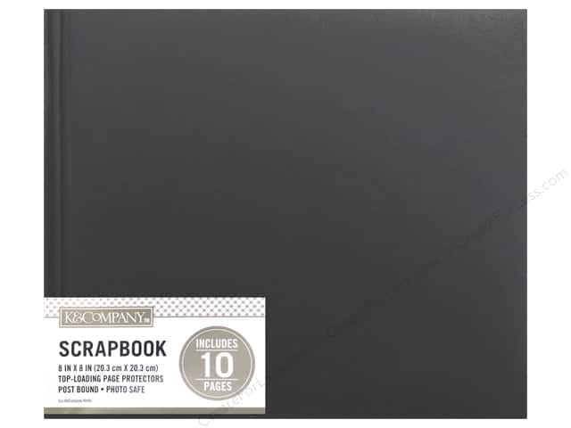 K & Company 8 x 8 in. Scrapbook Album Basic Faux Leather Black
