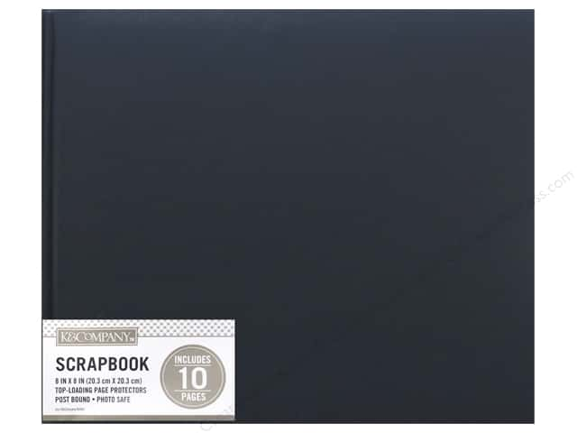 K & Company 8 x 8 in. Scrapbook Album Basic Faux Leather Navy