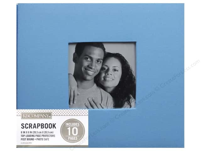 K & Company 8 x 8 in. Scrapbook Window Album Fabric Blue