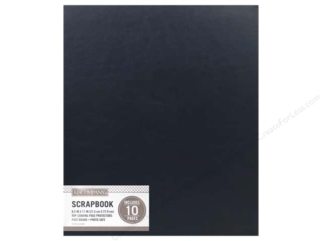 K & Company 8 1/2 x 11 in. Scrapbook Album Basic Faux Leather Navy