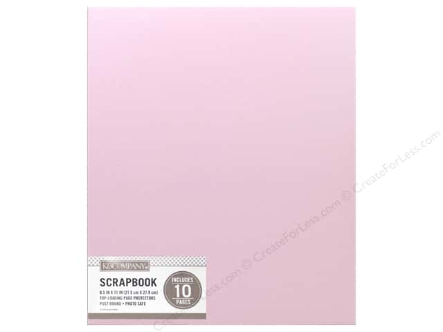 K & Company 8 1/2 x 11 in. Scrapbook Album Faux Leather Pink