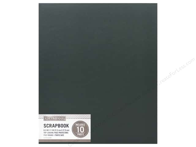 K & Company 8 1/2 x 11 in. Scrapbook Album Basic Faux Leather Hunter