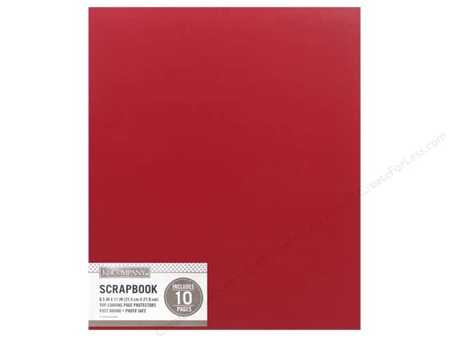 K & Company 8 1/2 x 11 in. Scrapbook Album Basic Faux Leather Red