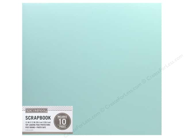 K & Company 12 x 12 in. Scrapbook Album Basic Faux Leather Mint