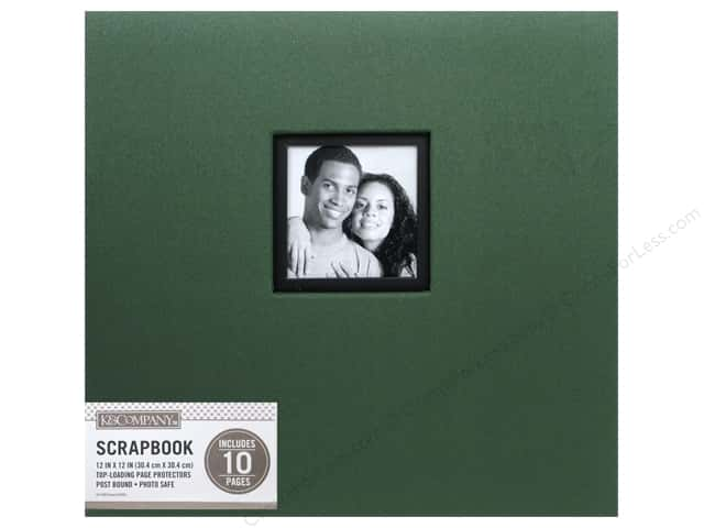 K & Company 12 x 12 in. Scrapbook Window Album Fabric Hunter
