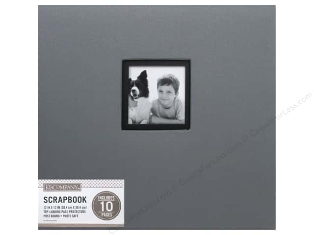 K & Company 12 x 12 in. Scrapbook Window Album Fabric Gray