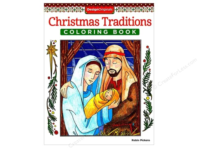 Design Originals Christmas Traditions Coloring Book