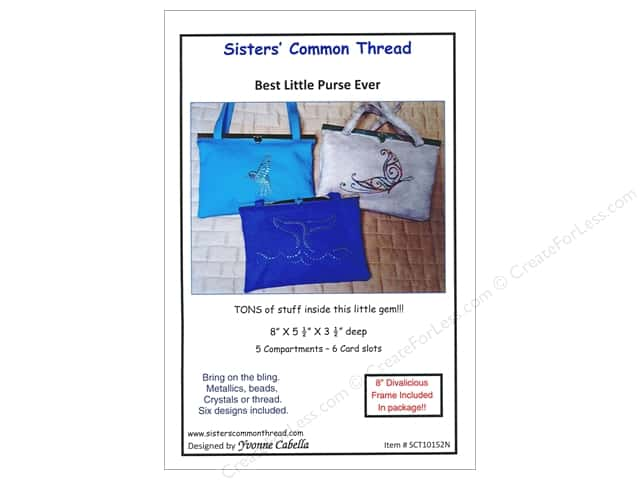Sisters' Common Thread Best Little Purse Pattern & Frame Nickel