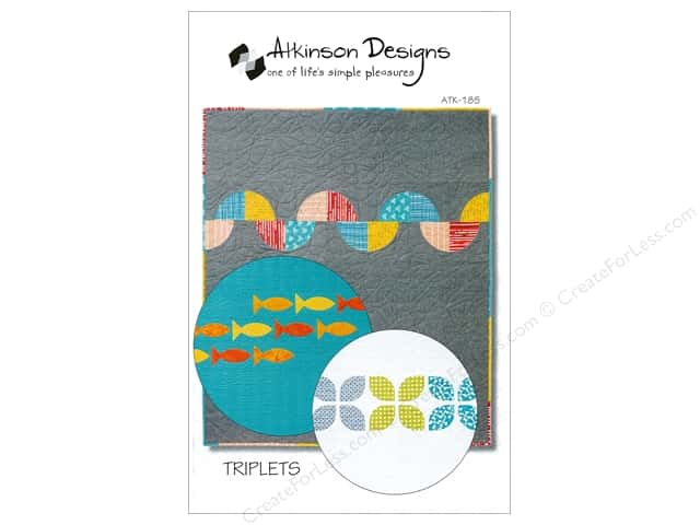 Atkinson Designs Triplets Trio of Baby Quilts Pattern