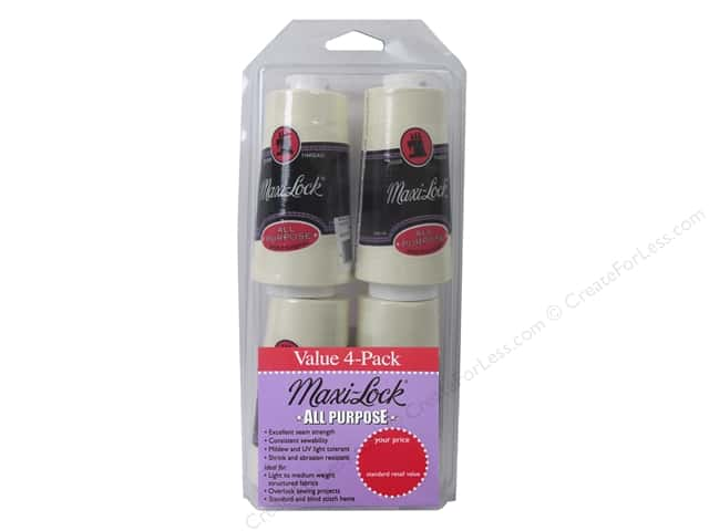 Maxi-Lock Serger Thread Value Pack 4 pc. Eggshell