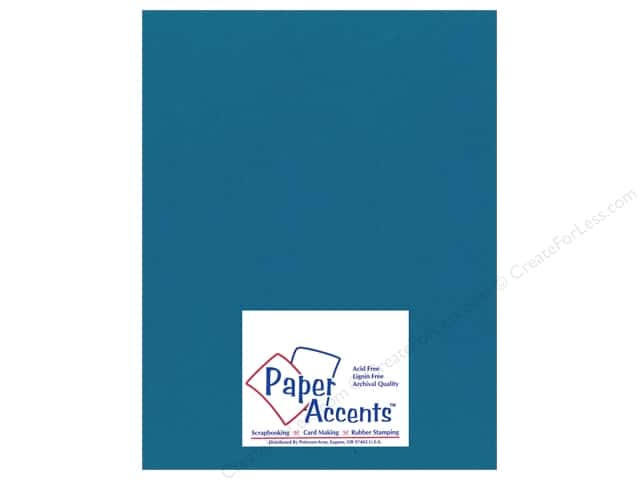 Cardstock 8 1/2 x 11 in. Smooth Blue Oasis by Paper Accents (25 sheets)